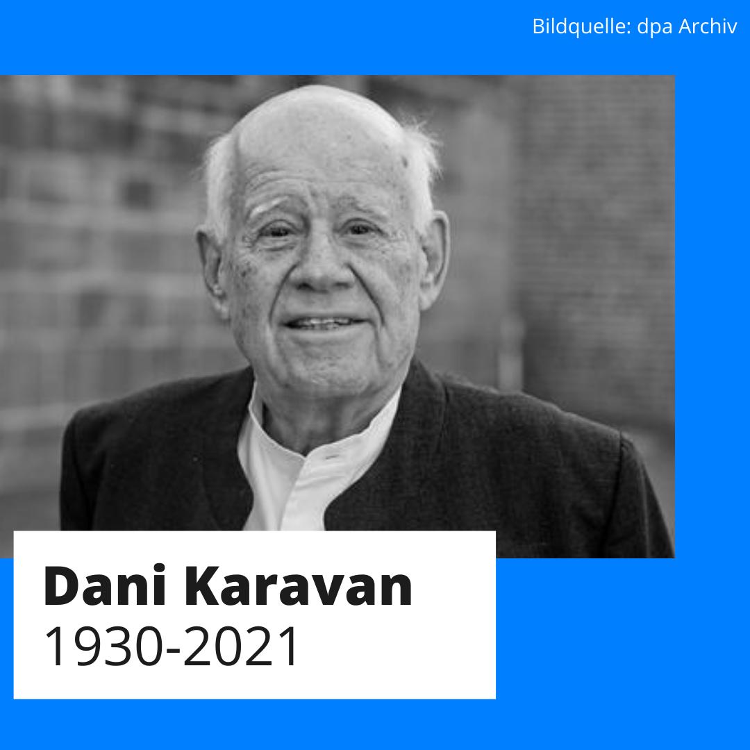 Der Schöpfer des Sinti-und-Roma-Denkmals Dani Karavan gestorben