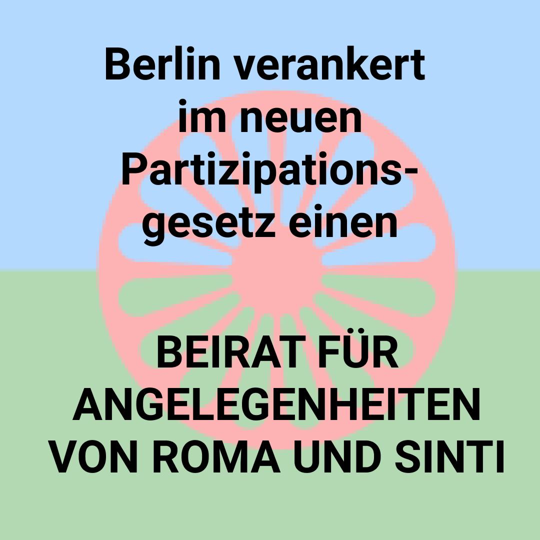 Berlin setzt Beirat für Angelegenheiten von Roma und Sinti ein