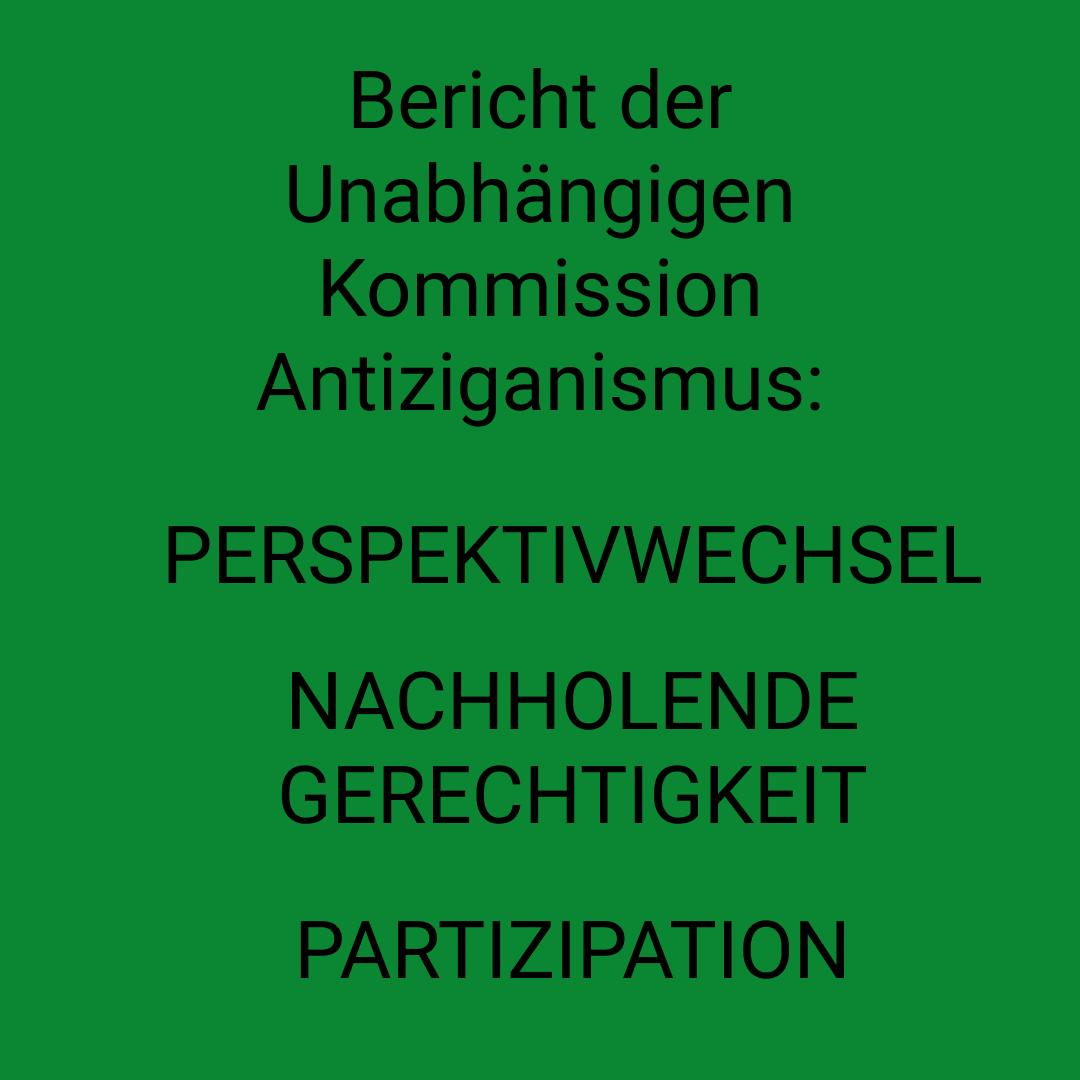 Bericht der Unabhängigen Kommission Antiziganismus veröffentlicht