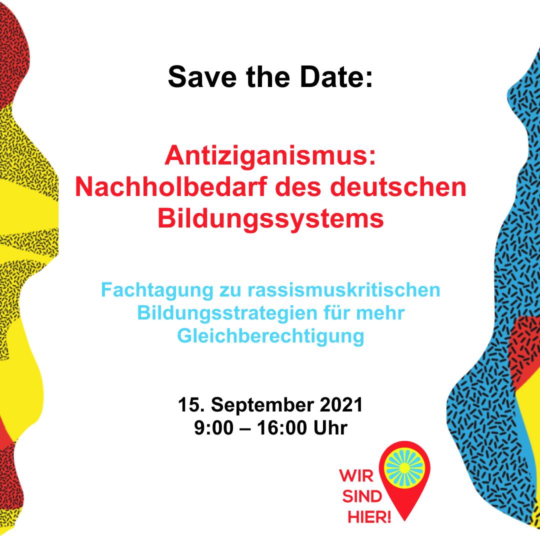 Save the Date: Antiziganismus – Nachholbedarf des Bildungssystems